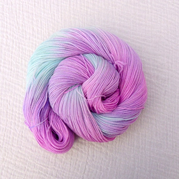 Gold Sparkle Variegated Sock Yarn Hand Dyed  100g - Magick Light