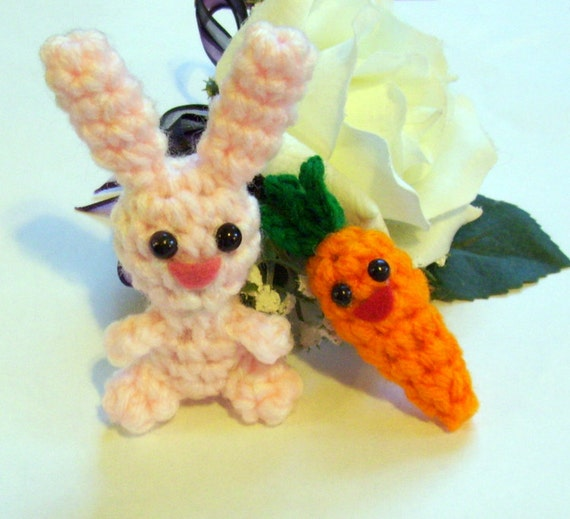 Happy Little Bunny and her Carrot Friend Plushies