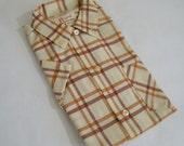 Vintage 1960s Boys' Dress Shirt / Collared Shirt / Short Sleeves