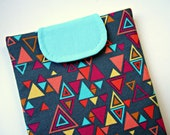 Kindle Cover or Small Tablet Case - Grey, Yellow, Turquoise, Pink, and Orange