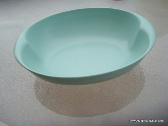 Lenox Ware Malmac Oval Serving Turquoise Bowl 1960's Retro on Etsy