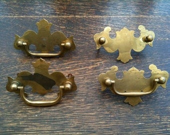 Vintage English drawer handles circa 1950's / English Shop