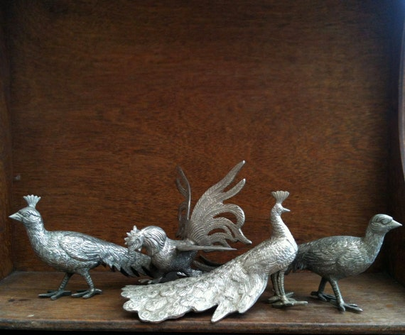 Vintage Bird Game Flock, Instant Collection - reserved for S.