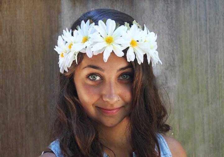 Daisy Headband Daisy Crown White Daisy Chain Hippie