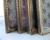 Metal Picture Frames Vintage Metal Picture Frames set of Four Frames Ornate Metal Frames