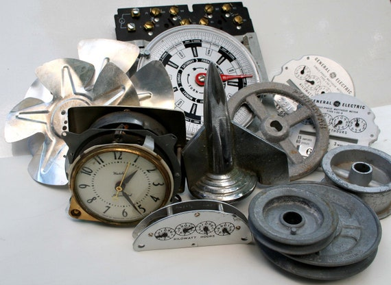 Essential Steampunk Sampler - 12 Pcs. of  Industrial Goodies