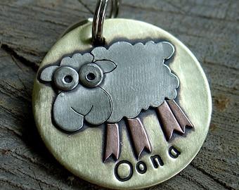 Sheep Dog ID Tag- wacky Sheep id  tag for dogs