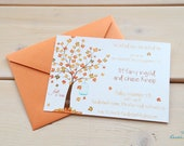 PRINTED Fall Tree Bridal or Wedding Shower