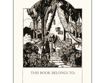 Cozy Cottage Bookplates - Pack of Ten - Little House in the Woods
