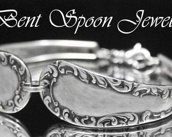 Spoon Jewelry, Silverware Jewelry, Spoon Bracelet, Wedding Jewelry, Bridesmaid Gift - Raymond 1898