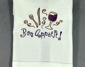 Kitchen towel, wine themed