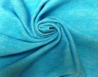 Beautiful Lighter Turquoise Blue Denim Lycra Jegging knit fabric
