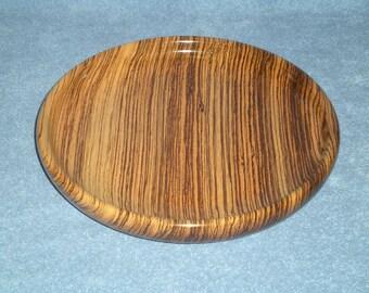 Bowl, zebrawood