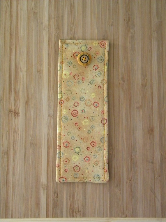 Back to School Fabric Bookmark: Country Gold