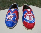 Hand Painted Texas Rangers TOMS, Made to Order, Choose Your Size