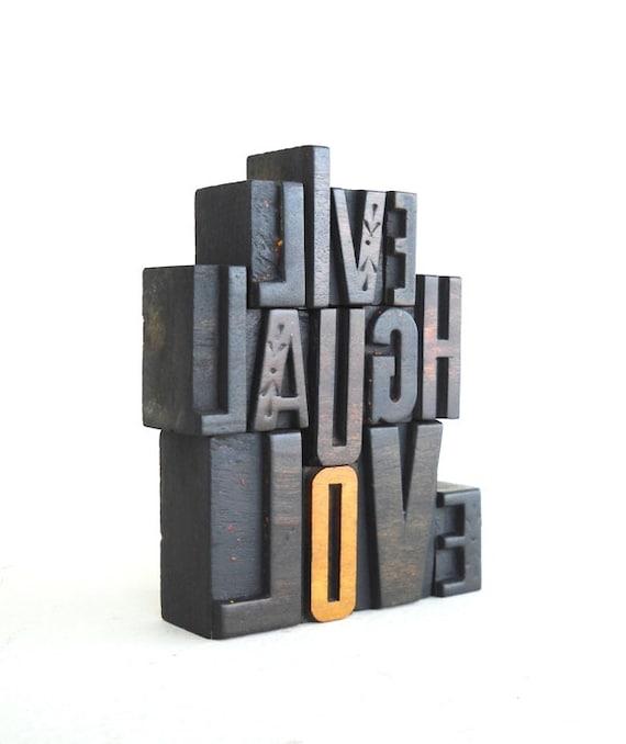 Live, Laugh, Love -13 Vintage Letterpress Alphabets Collection - VG14