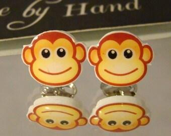 Monkey Face Stud Earrings