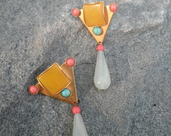 Jade Tear Drop  Earrings