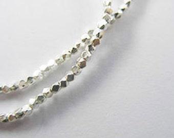 220 Karen Hill Tribe Silver Facet Beads 1.3 mm. :ka3258