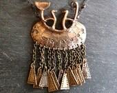 Hallstatt 900 - Bronze pendant based on early celtic brooch pin jewellery