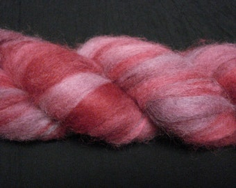 Alpaca Roving custom dyed in red and lavender