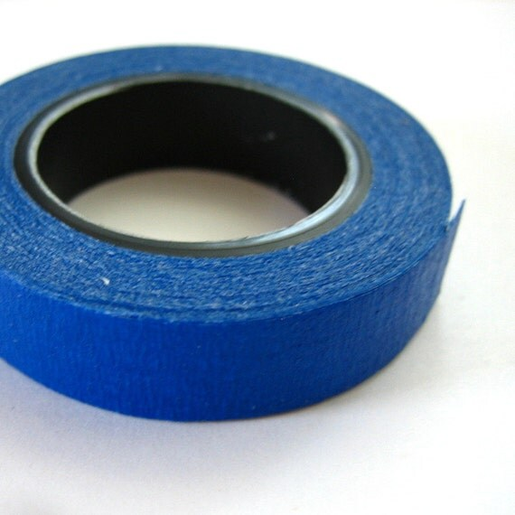 Royal Blue Crepe Masking Tape 3/8 inch One Roll 25 feet