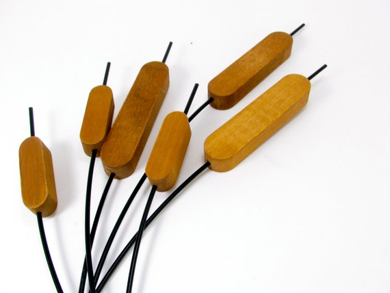 Cattails Sculpture Mid Century Wall Hanging ..reserved..