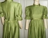 Vintage Key Lime Maxi Dress by Emma Domb