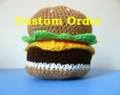 Custom Order for Rodney: 3 crochet Burgers