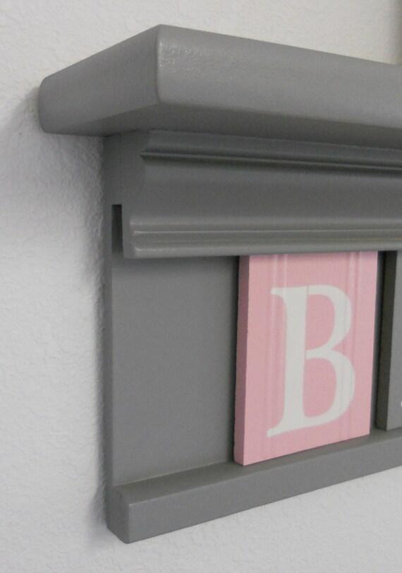 Hexagonal Grey Wall Shelf in 2020   Pink wall shelf, Grey ...  Pink And Grey Bookcase