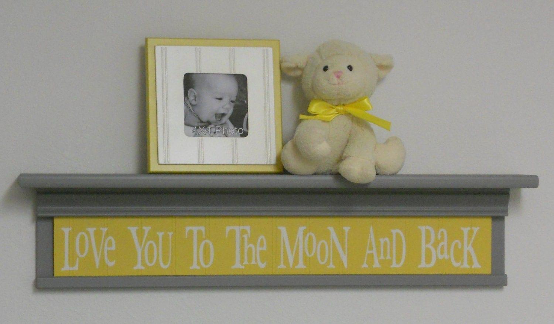 Gray and yellow baby nursery decor baby wall decor yellow - Gray and yellow baby room ...