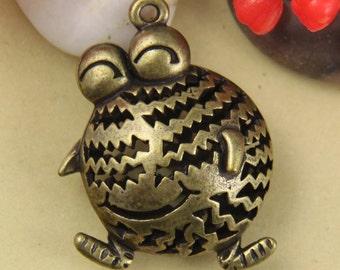 2pcs Large Chubby 3D Frog Charm