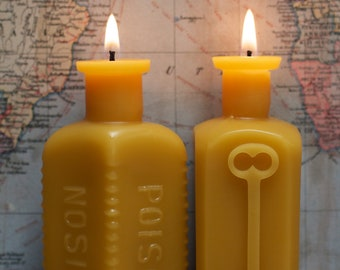 Beeswax Candle Collection - Lg Poison & Keythedral