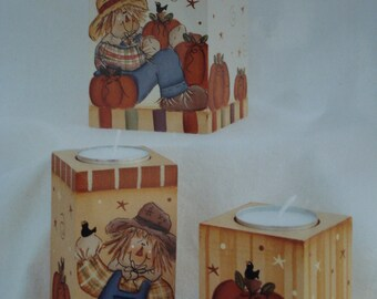 Pattern Packet:  Fall Candle Blocks by Laurie Speltz