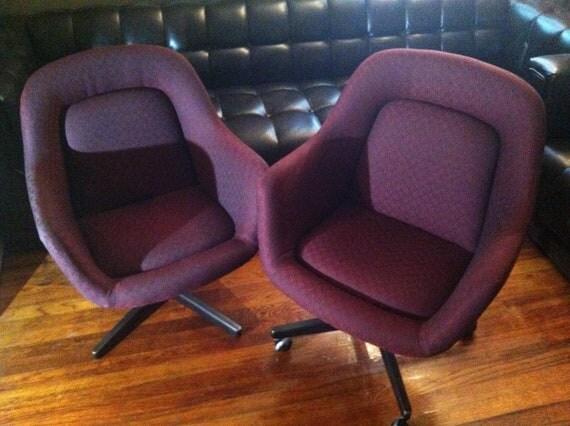 Mid Century Modern Vintage Knoll Saarinen Office Chairs
