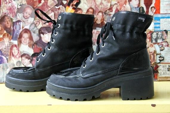 90s GRUNGE, GUESS boots, platform US 7.5