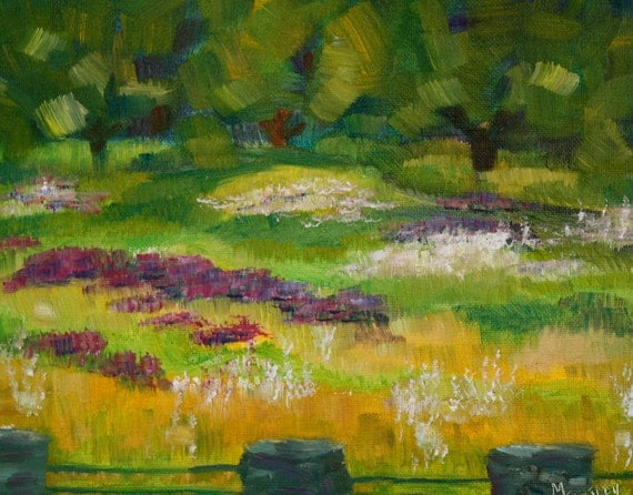 Painting Landscape - Oil Abstract - New England Painting - Historical Landscape