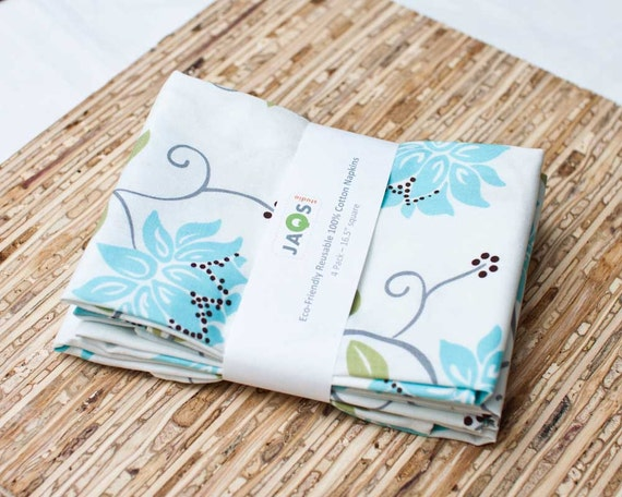 Eco-Friendly Large Cloth Napkins - Set of 4 - (N853)