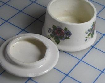 Vintage Round Porcelain Lidded Container