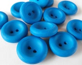 12 Bluejay Deep 2 Hole Round Buttons Size 7/8""