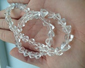 Rock Crystal Faceted Trillion Cut- 8mm