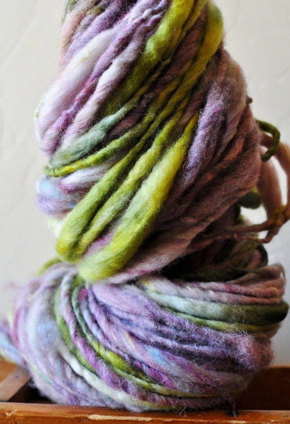Handspun Luxury Yarn, Thick and Thin, Smooth