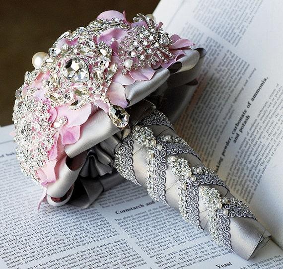 Luxury Vintage Bridal Brooch Bouquet Pearl Rhinestone