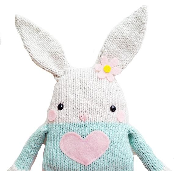 Knitting Expat Etsy : Items similar to bunny knitting pattern toy softie