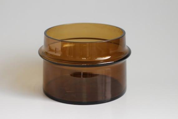 Amber Glass Holmegaard Bowl - 1960s