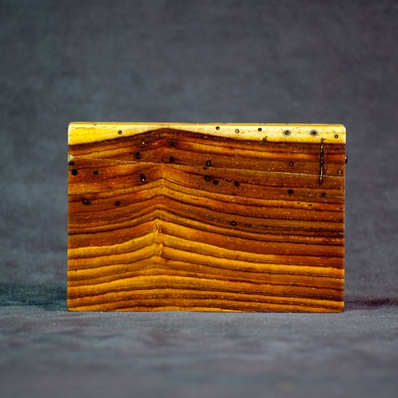 Wood Business Card Case and Credit Card Holder - Special Stock Cocobolo and Teak