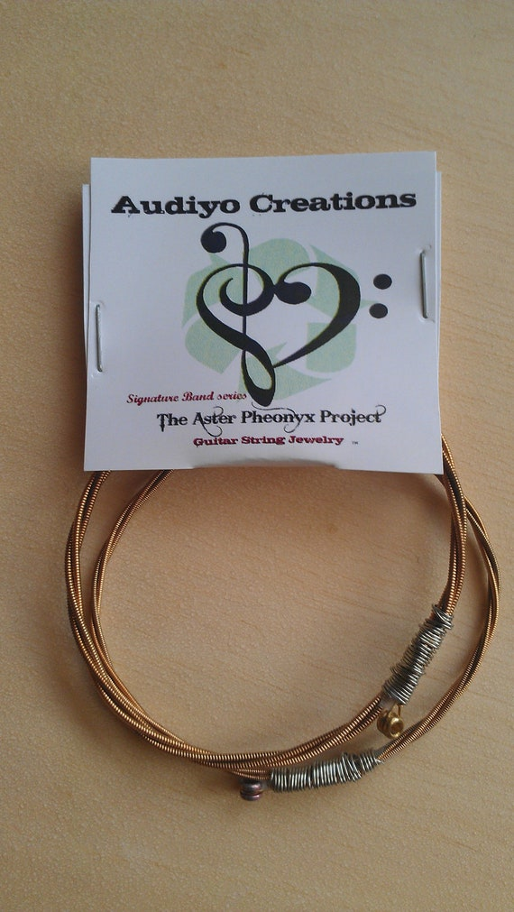 Set of 2 Guitar string Bracelets from the Aster Pheonyx Project Band