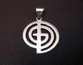 """God Cross Pendant in Silver uses the letters  """"G"""" """"O"""" """"D""""  to form the word God"""