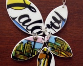Calgary Love Necklace - Recycled China - Material and Movement