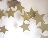Gold Stars Garland - Christmas Garland - New Years Garland - Patriotic Garland - Custom Colors